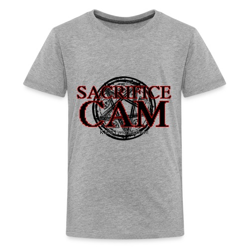 Sacrifice Cam Logo (Red outlines) - Kids' Premium T-Shirt