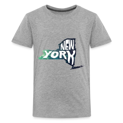 A New York State of Outline - Kids' Premium T-Shirt
