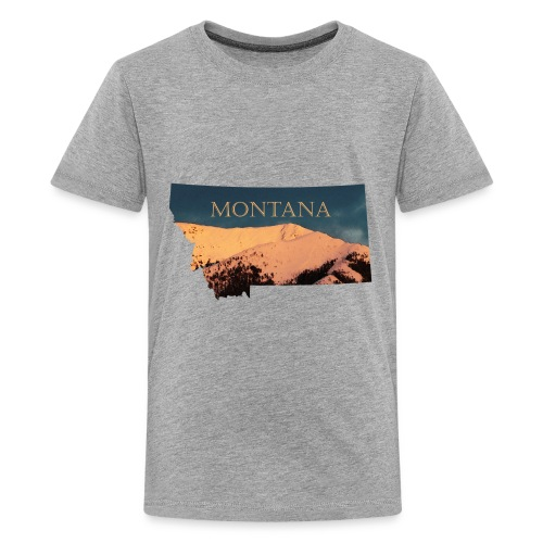 Swan Mountain Range Watercolor - Kids' Premium T-Shirt
