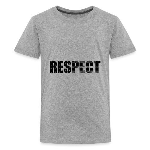 Respect Black and White flag - Kids' Premium T-Shirt