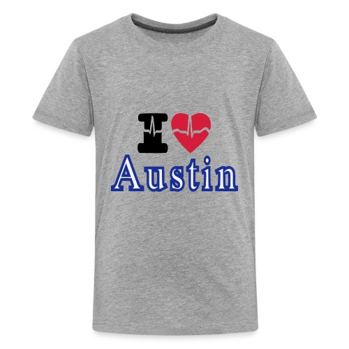Love Austin Heart - Kids' Premium T-Shirt