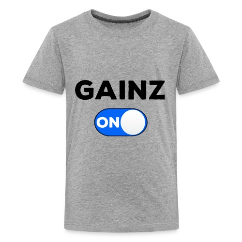 gainz blue - Kids' Premium T-Shirt