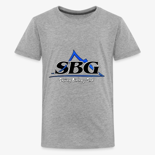 Skiing Biology God - Kids' Premium T-Shirt