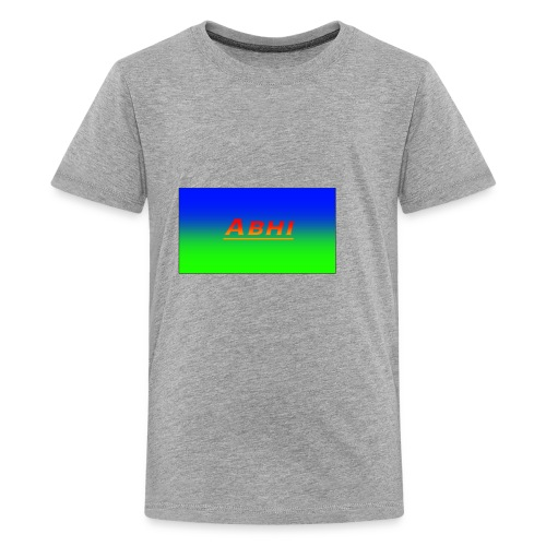 Oficial Abhi Merch (in mixed logo) - Kids' Premium T-Shirt
