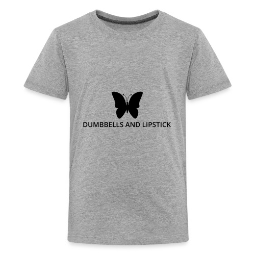 Dumbbells and Lipstick - Kids' Premium T-Shirt