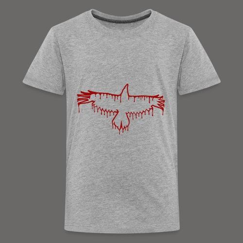 Bloody Crow Logo Solo - Kids' Premium T-Shirt