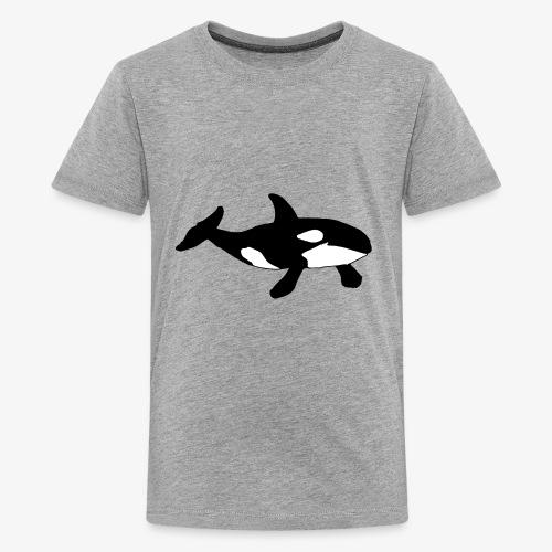Hand drawn Killer Whale design - Kids' Premium T-Shirt