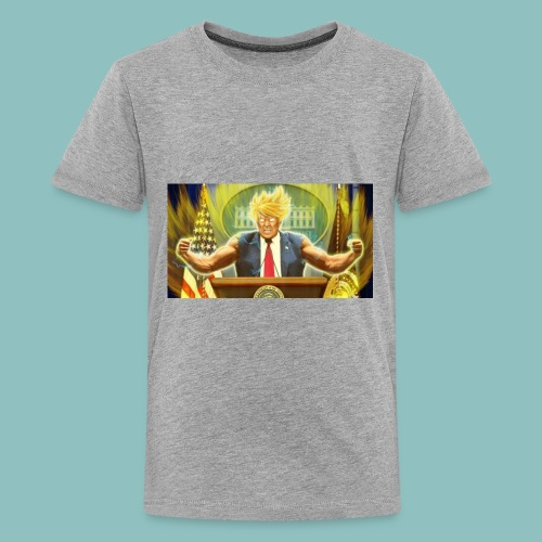 Donald Trump goes Super Saiyan - Kids' Premium T-Shirt