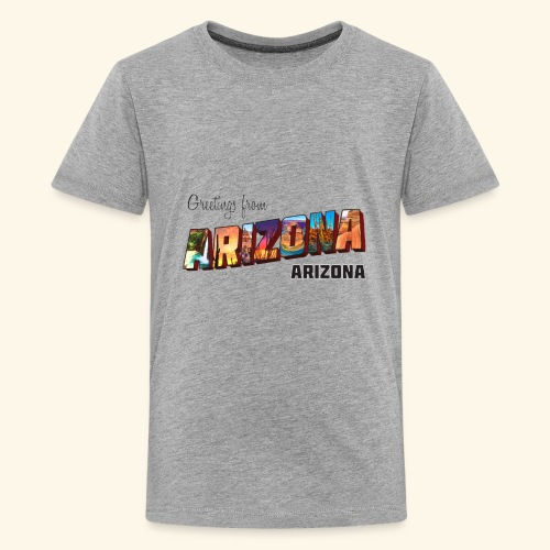Greetings from Arizona - Kids' Premium T-Shirt
