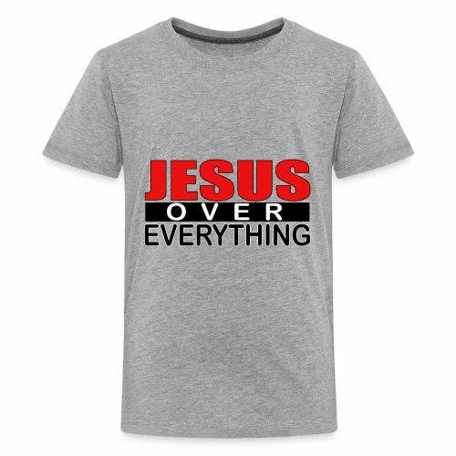 jesus over everything logo5 - Kids' Premium T-Shirt