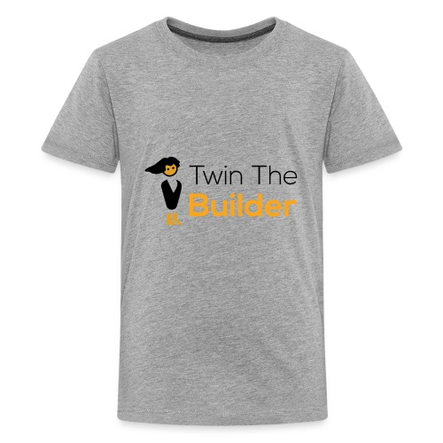 Twin The Builder Stacked Logo - Kids' Premium T-Shirt