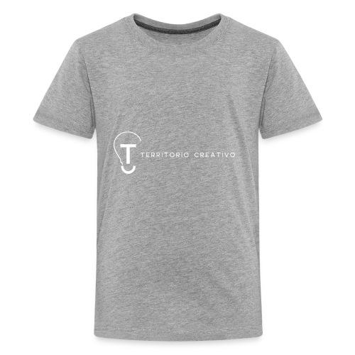 TC logo White - Kids' Premium T-Shirt