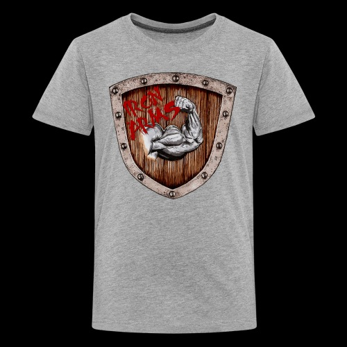 Iron Arms Shield Logo - Kids' Premium T-Shirt