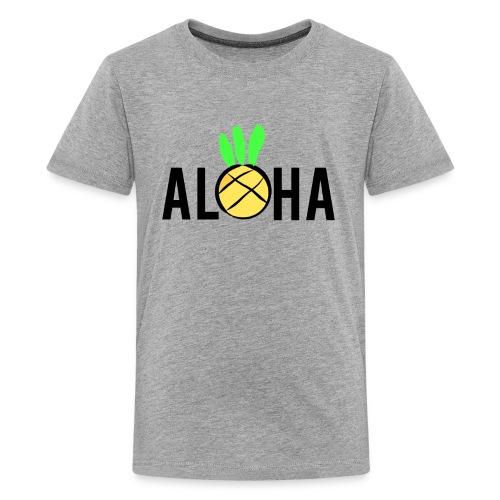 Aloha Pineapple Block Logo - Kids' Premium T-Shirt