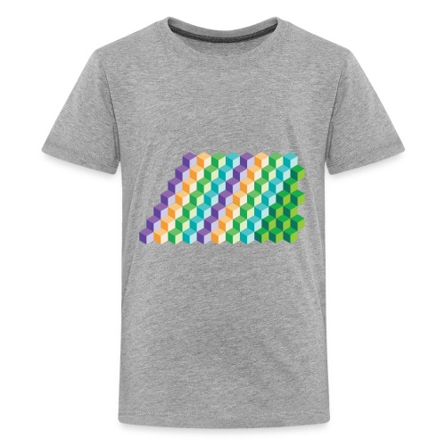 Cool Cubes Pattern - Kids' Premium T-Shirt