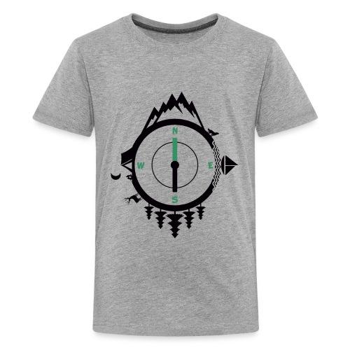compass travel - Kids' Premium T-Shirt