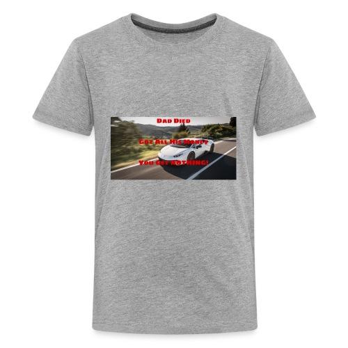 Dad Died Shirt - Kids' Premium T-Shirt