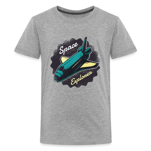Space Explorer, Cool Grunge Space Shuttle - Kids' Premium T-Shirt