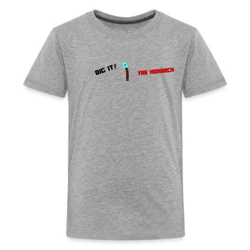 Dig It? Trollface Diamond Shovel - Kids' Premium T-Shirt
