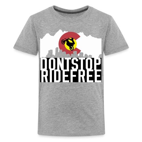 Dont Stop RideFree Colorado (J&L) - Kids' Premium T-Shirt
