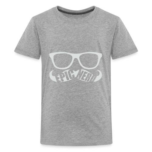 White Epic Nerd Logo - Kids' Premium T-Shirt