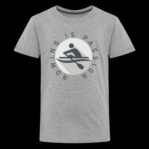 Rowing Is Passion Logo - Kids' Premium T-Shirt