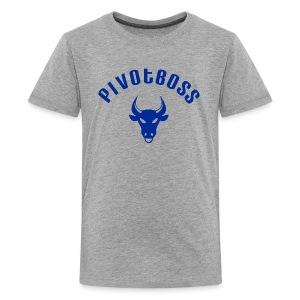 PivotBoss Curved Logo - Cobalt - Kids' Premium T-Shirt
