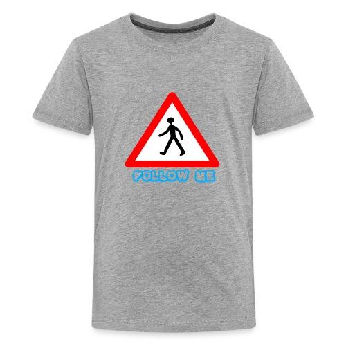 Follow me sign - Kids' Premium T-Shirt
