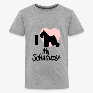 I Heart My Schnauzer T-Shirt for Dog Lovers - Kids' Premium T-Shirt