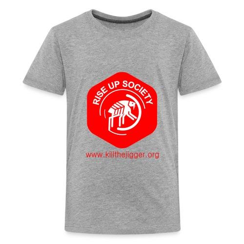 Rise Up Society Logo & Link - Kids' Premium T-Shirt