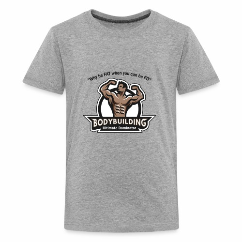Ultimate Dominator Fitness Logo - Kids' Premium T-Shirt
