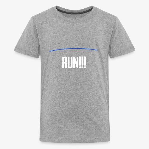 Run - The Blue Line Is Coming - PUBG Battlegrounds - Kids' Premium T-Shirt