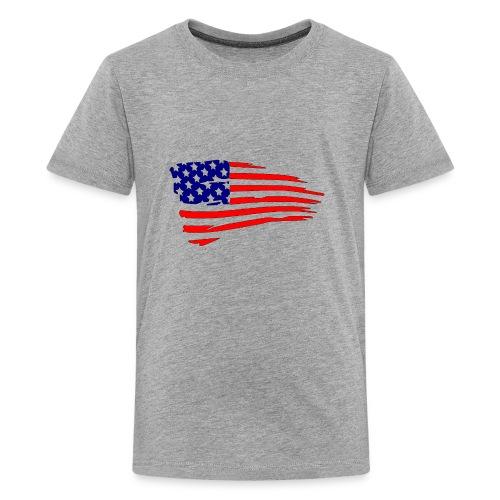 USFlagRed Blue - Kids' Premium T-Shirt