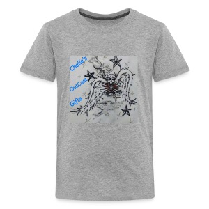 Chelle's Outcast Gifts Winged Skeleton Logo - Kids' Premium T-Shirt