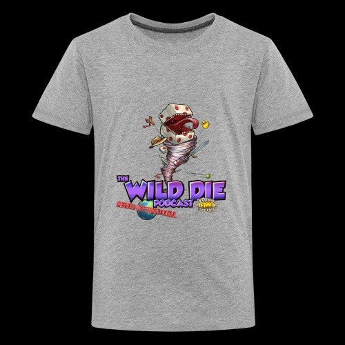 The Wild Die Podcast with N-I logo - Kids' Premium T-Shirt