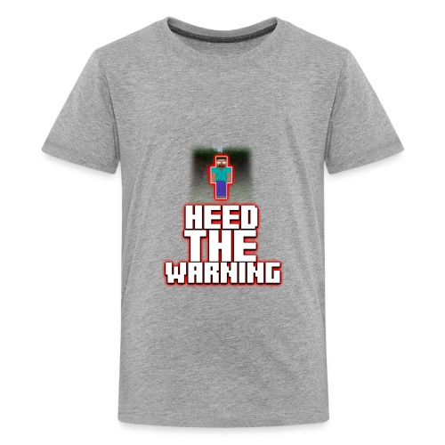 Heed The Warning #HerobrineMovie - Kids' Premium T-Shirt