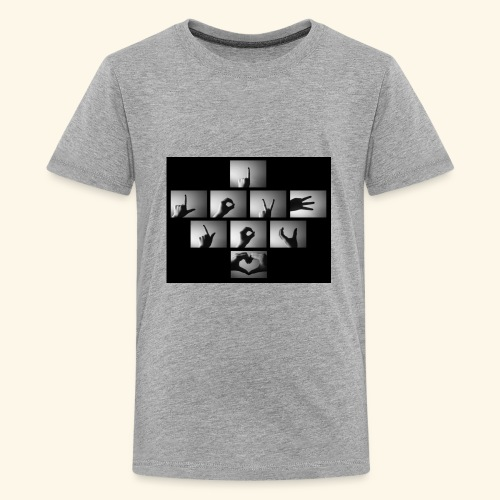 I Love You Hand Sign - Kids' Premium T-Shirt