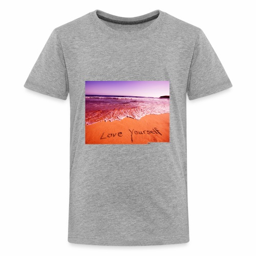 on beach love yourself wallpapers 1024x768 - Kids' Premium T-Shirt