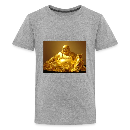 Laughing Buddha Gold Statue - Kids' Premium T-Shirt