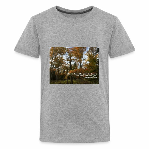 Quiet Forest and Inspirational Message - Kids' Premium T-Shirt