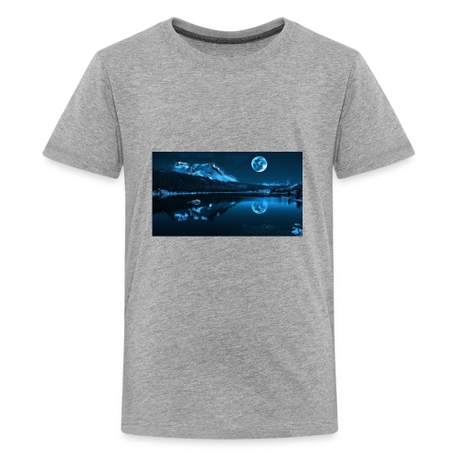 blue moon lake - Kids' Premium T-Shirt