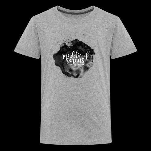 ROS FINE ARTS COMPANY - Black Aqua - Kids' Premium T-Shirt
