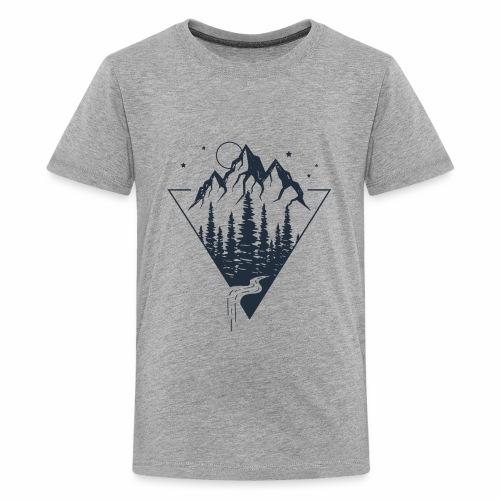 Mountains view - Wanderlust collection - Kids' Premium T-Shirt