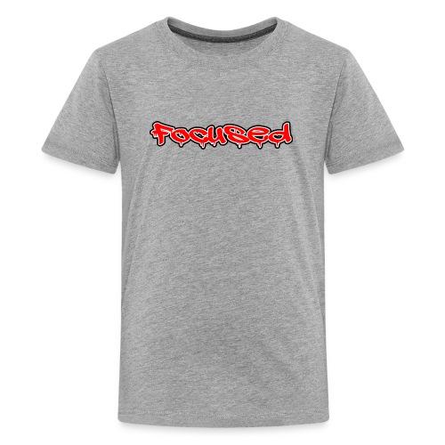 Focused Red Grafitti - Kids' Premium T-Shirt