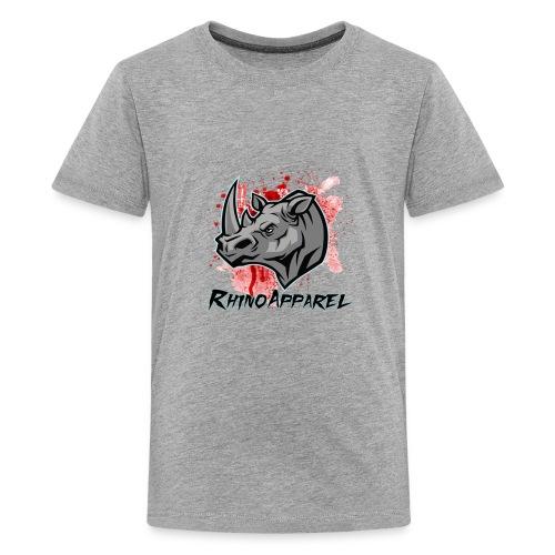 Rhino Blood Splatter - Kids' Premium T-Shirt