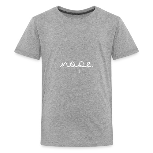 Nope Letterman Jacket - Kids' Premium T-Shirt