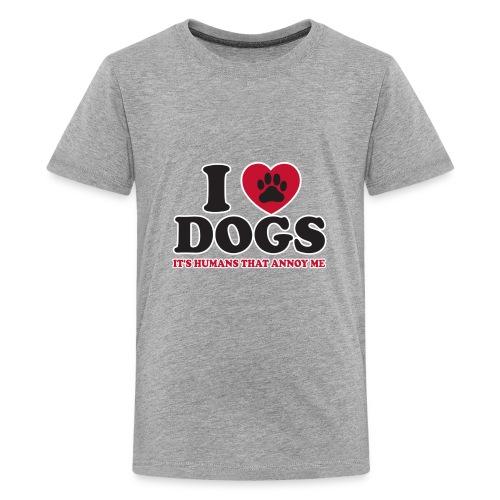 I love dogs - Kids' Premium T-Shirt