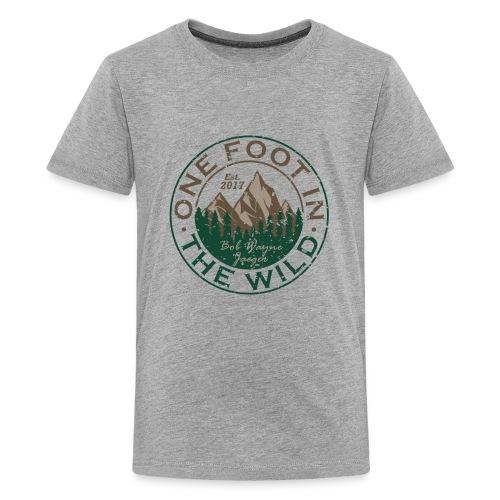 One Foot in the Wild Logo Gear - Kids' Premium T-Shirt