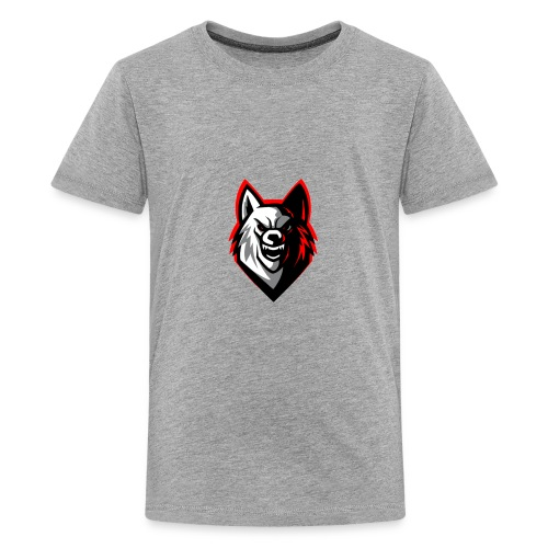 clean wolf logo by akther brothers no watermark - Kids' Premium T-Shirt