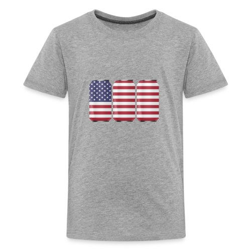 beer can USA Flag - Kids' Premium T-Shirt
